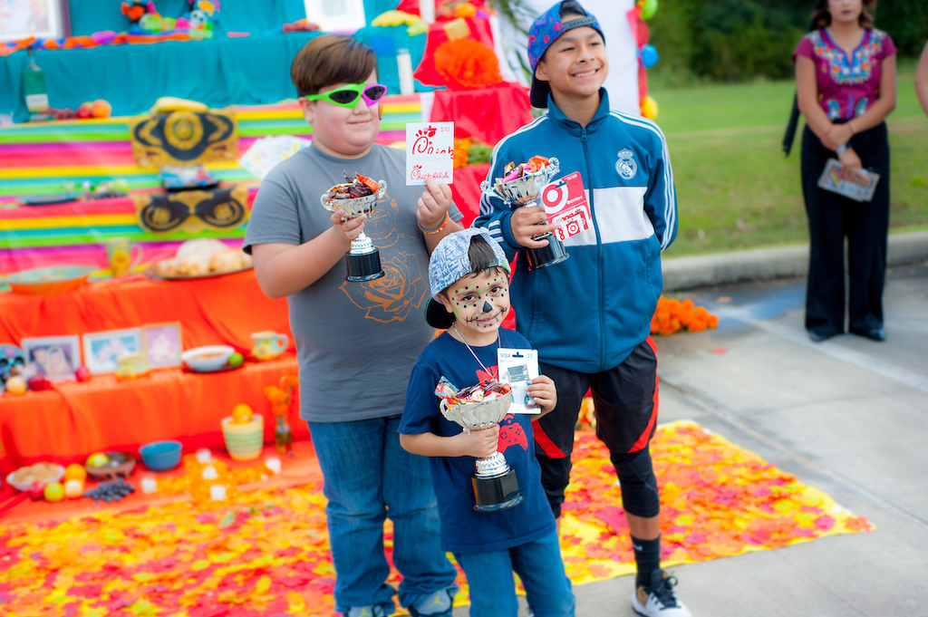 Winners of the Muertos Festival dance contest