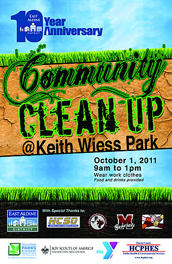 Community Clean Up Keith Wiess Park 2011