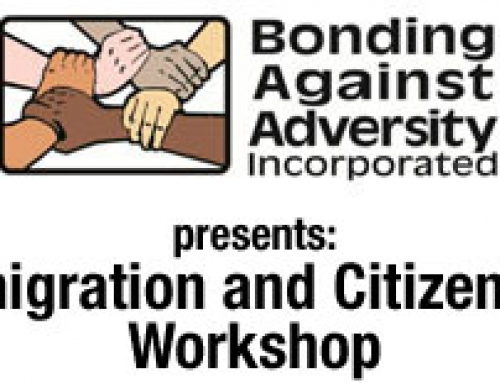 Upcoming Citizenship Classes and Workshops organized by Bonding Against Adversity