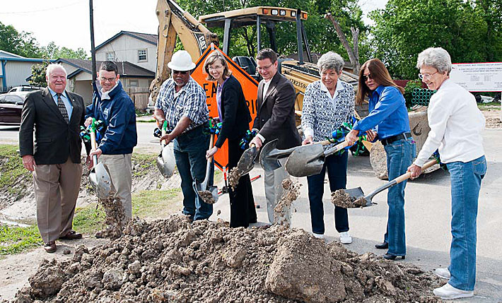 groundbreaking for sewer project phase 2