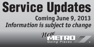 metro service update