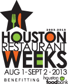 Houston Restaurant Weeks logo 2013