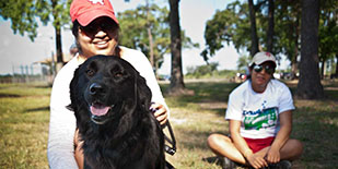 East Aldine's Paws in the Park basic dog training class