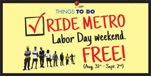 METRO Free Fare Weekend Email Blast