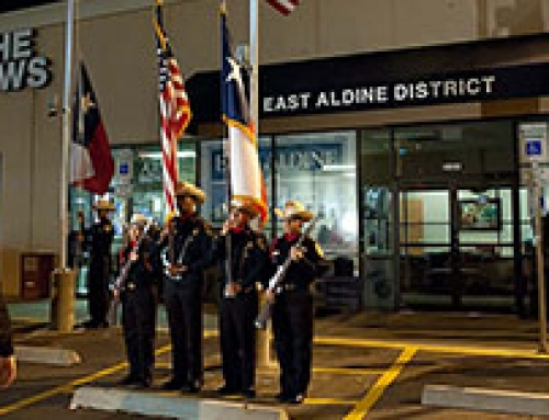 Pictures of the EAD Flag Ceremony on Feb. 18