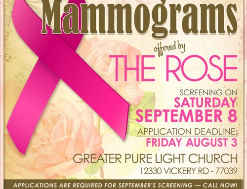 Free Mammograms offered by The Rose, Sept. 8