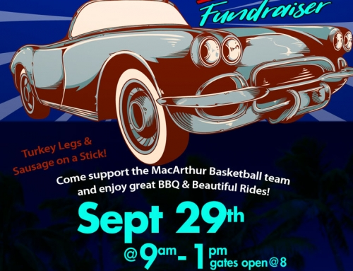 MacArthur HS Basketball – Car Show & BBQ Fundraiser, Sept. 29