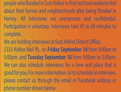 Did you get flooded by Hurricane Harvey in East Aldine?