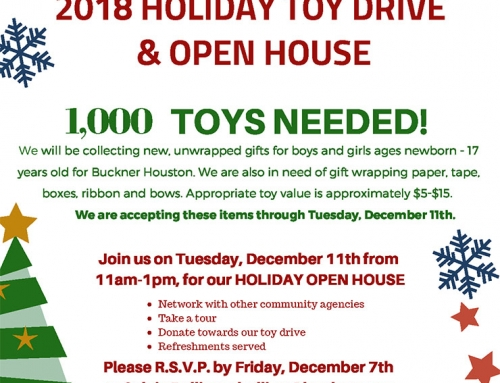 Christmas Open House and Toy Drive at the Buckner Family Hope Center