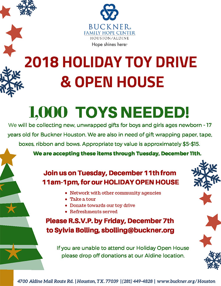 Christmas Open House.Christmas Open House And Toy Drive At The Buckner Family