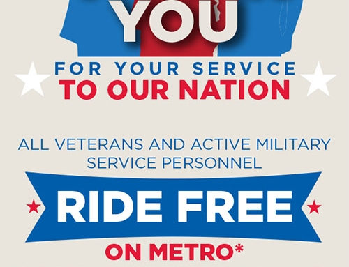METRO Offers Free Ride on VETERANS DAY!