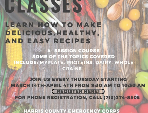 Nutrition Classes, March 14 thru April 4