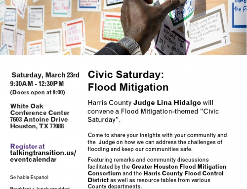 County Judge's Civic Saturday – Flood Mitigation, March 23