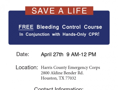 Community Event: Hands Only CPR & Stop the Bleed, April 27