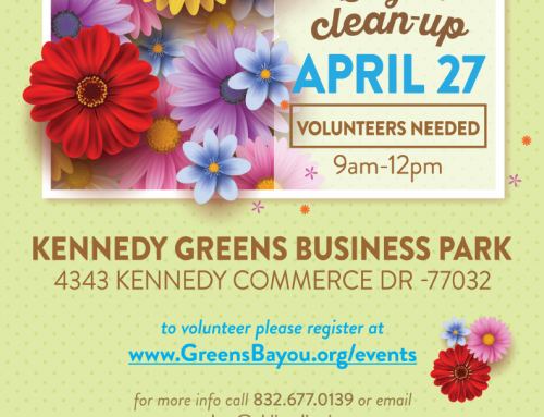 Greens Bayou Clean-Up, April 27