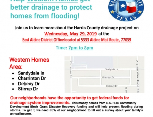 Help Western Homes get better drainage to protect homes from flooding