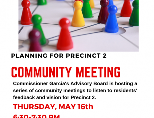 Harris County Precinct 2 Hosts Community Meetings
