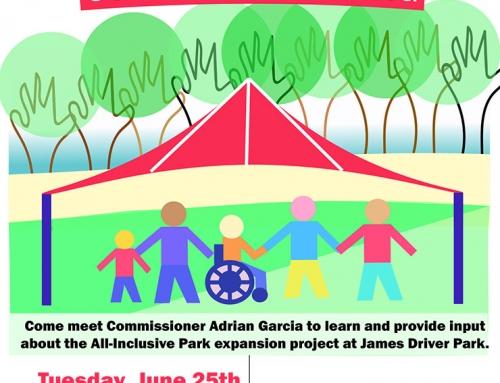Community Meeting: Park Expansion Project James Driver Park, June 25