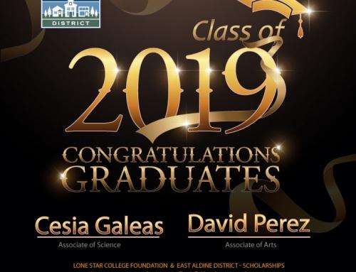 Class of 2019 – Congratulations Graduates Galeas & Perez