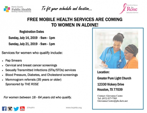 Free mobile health services are coming to women in Aldine