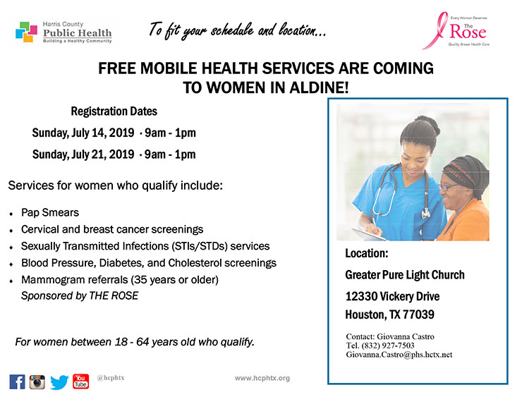 Free Mobile Health Services Are Coming To Women In Aldine East Aldine Management District