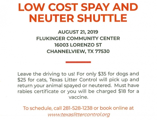Low Cost Spay and Neuter Shuttle, Aug. 21