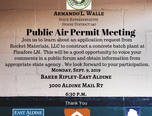 Armando Walle: Public Air Permit Meeting, Sept. 9