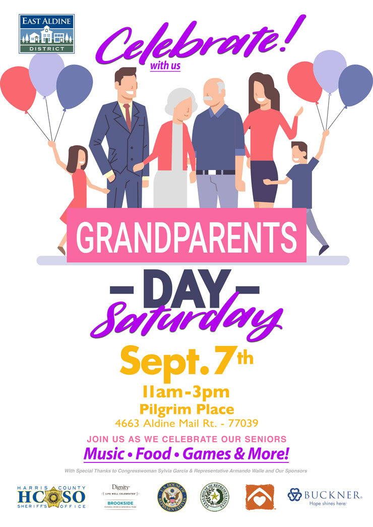 Celebrate Grandparents Day With Us, Sept  7 – East Aldine