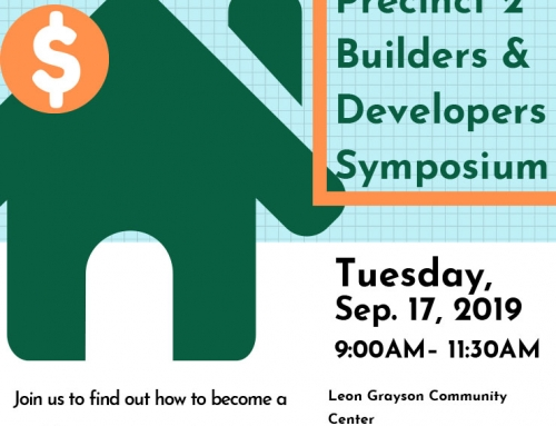 Precinct 2: Builder and Developers Symposium, Sept. 17