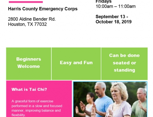 Free Tai Chi Workshop for Senior Adults, Sept. 13-Oct. 18