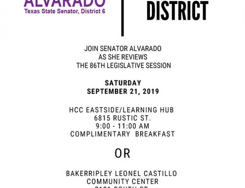 Senator Alvarado: State of the District, Sept. 21