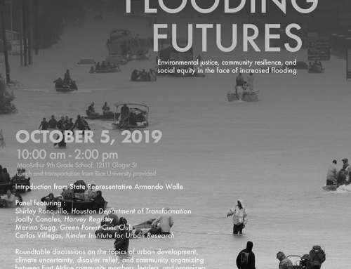 Community Panel and Workshop: East Aldine Flooding Futures, Oct. 5