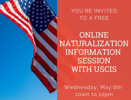 Online Naturalization Information Session with USCIS, May 6