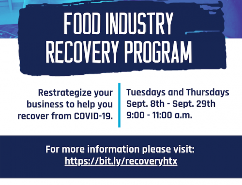 Applications are open for the 3rd cohort of the Food Industry Recovery Program