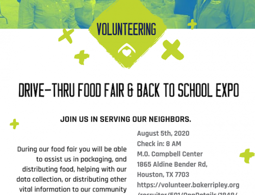 Volunteering: Drive-Thru Food Fair & Back to School Expo