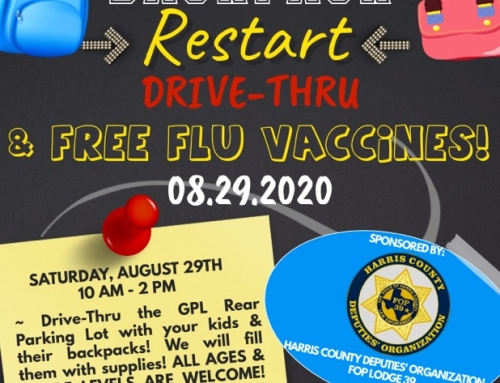 Backpack Restart Drive-Thru and Free Fly Vaccines