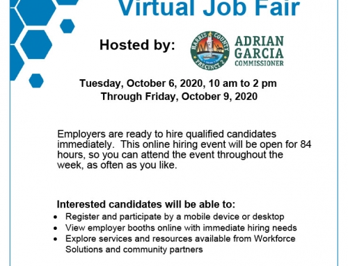 Harris County Pct. 2: Virtual Job Fair, Oct. 6