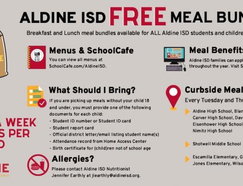 Aldine ISD Free Meal Bundles
