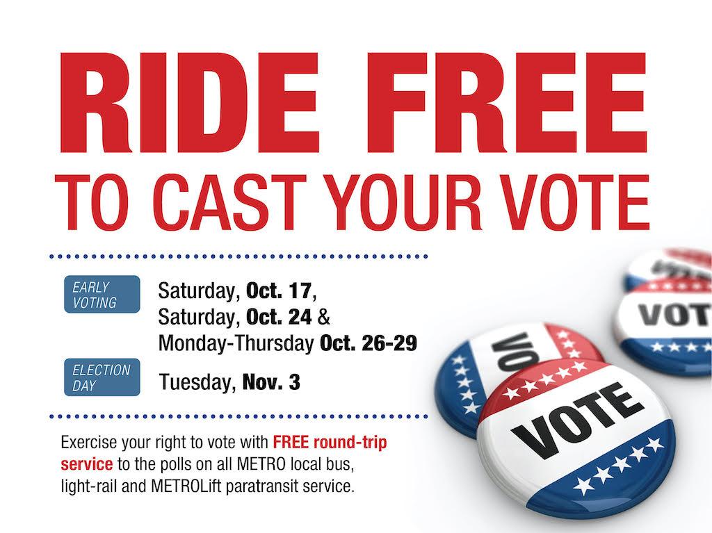 Free METRO Rides to the Polls