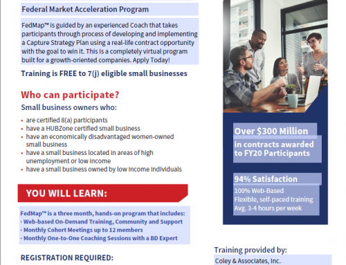 SBA Scholarships for Coley Map Federal Market Acceleration Program