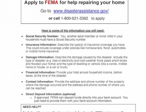TMO: Apply to FEMA to help repairing your home