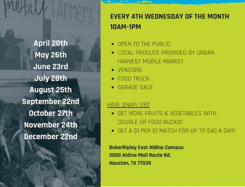 East Aldine Farmer's Market – Every 4th Wednesday of the Month