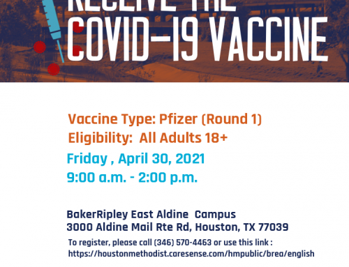 Houston Methodist/ BakerRipley EA COVID Vaccination Event, April 30