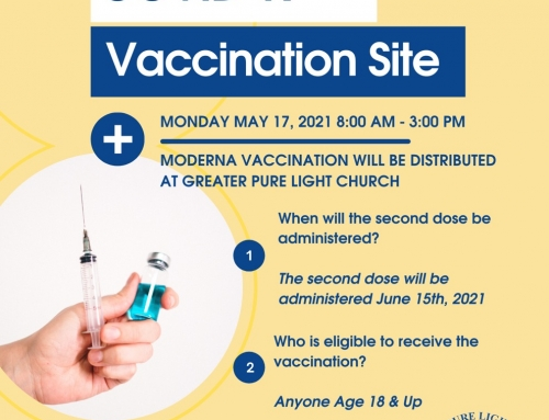 Moderna Vaccines at Greater Pure Light Church, May 17 | 8 AM-3 PM