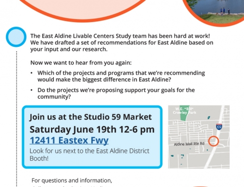 What are Your Priorities for East Aldine? East Aldine Livable Centers Study Meeting, June 19