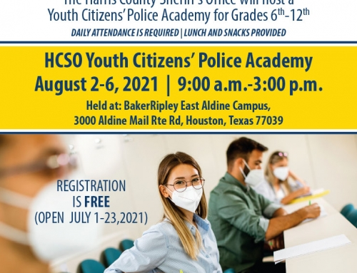 HCSO Youth Citizens' Police Academy, Aug. 2-6