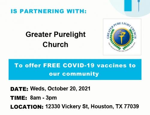 HCPH: Free COVID-19 Vaccines, Oct. 20
