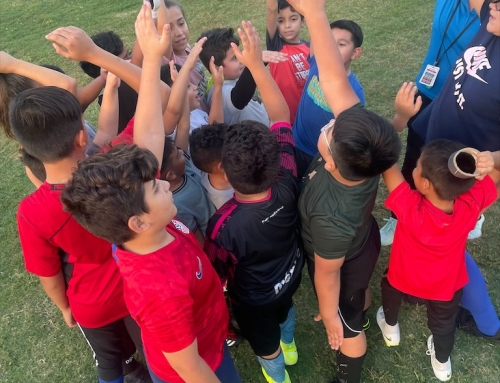 YMCA Youth Sports Clinic began its Sports and Badges Program at the East Aldine Town Center
